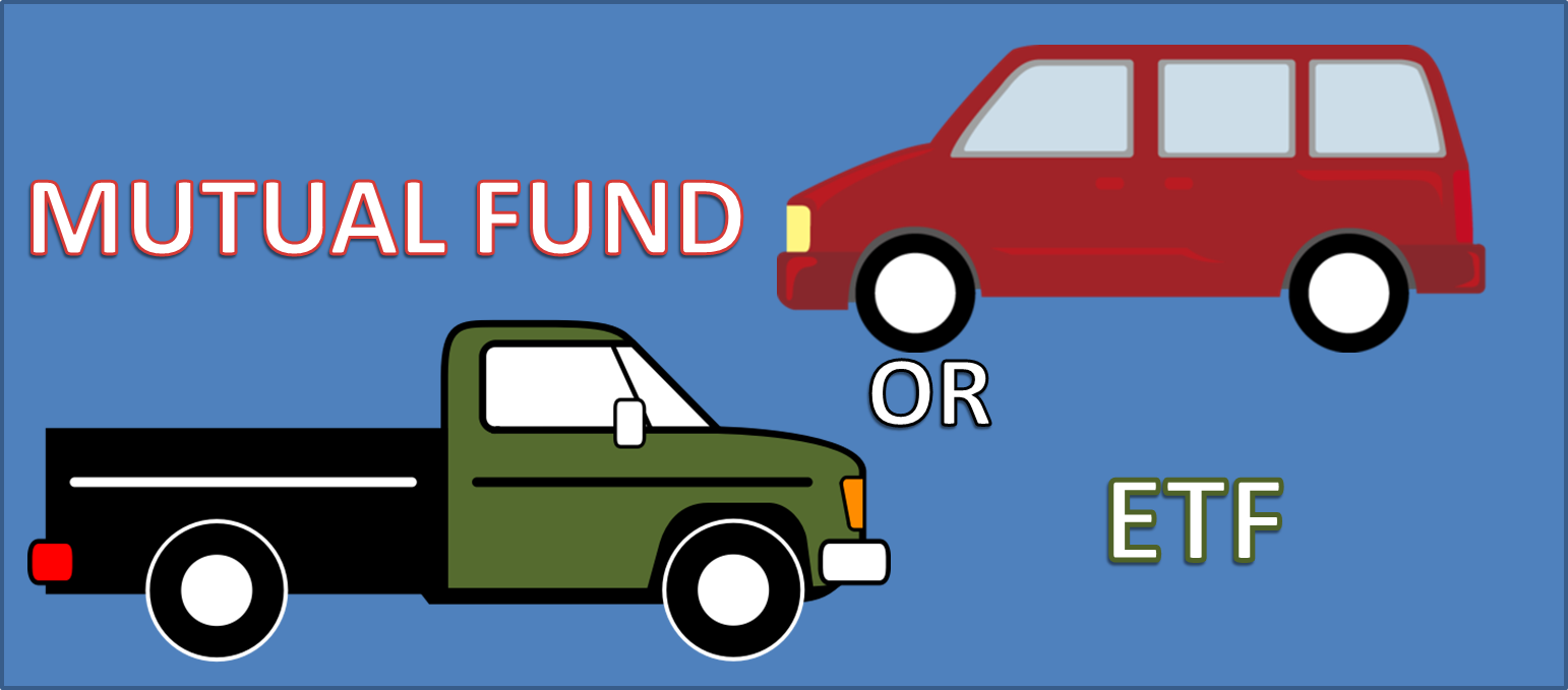 Mutual Fund, ETF, Illustration of Car and truck