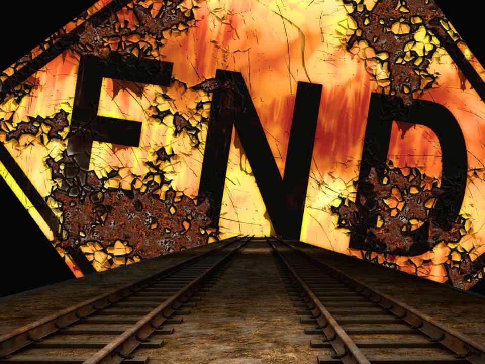 Dividends, railroad, End Sign, Dead End