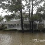 Sitting on an Island within Hurricane Harvey