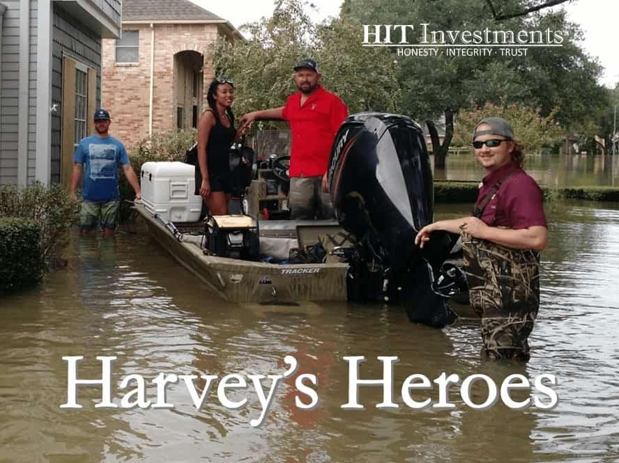 Hurricane Harvey Hero Flood Rescue Crew Volunteer Houston Addicks Barker